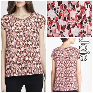 Joie Bartlett Poppy Digital Snakeprint Silk Top S